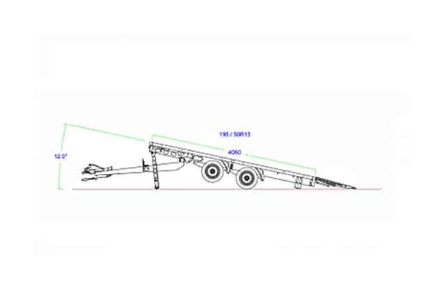 Maschinentransporter Anhänger EDUARD Erklärung, Information, Kippfunktion des Baumaschinenanhängers