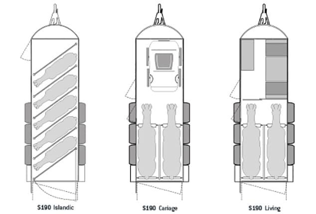 Pferdeanhänger Sirius S190, Sirius S190 Aluminium, 3D Ansicht von oben, Plan