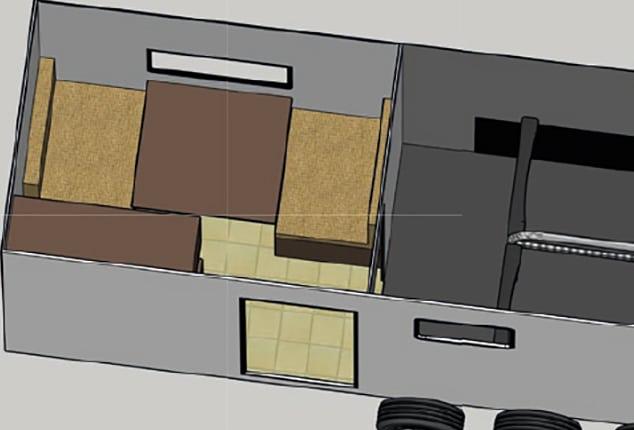 Pferdeanhänger Sirius S190, Sirius S190 Aluminium, 3D Ansicht, Planung